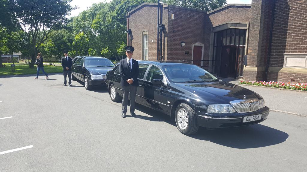 Funeral Cars Outside Church